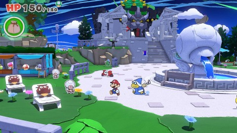 In a new trailer released today, Nintendo peeled back additional layers about the upcoming Paper Mario: The Origami King game, launching on July 17 for the Nintendo Switch family of systems. (Graphic: Business Wire)