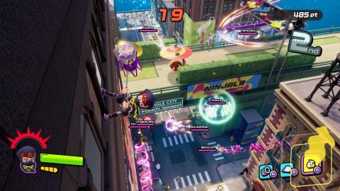 GungHo Online Entertainment將於2020年6月25日正式推出Nintendo Switch用忍者泡泡糖對戰動作遊戲Ninjala下載版,遊戲採基本遊玩免費制度。在本作中可以體驗多種武器間的激烈切磋、魄力十足的忍術與變身術,並在充滿高低差,可縱橫無阻四處移動的關卡中,享受飛簷走壁、空中戰鬥等自由自在的3D對戰動作。此外,透過吹起「忍者泡泡糖」,可以使出各種不同的泡泡糖動作,如高速移動或變換武器形狀等,增添遊戲的戰術性。此外,遊戲中還備有豐富的虛擬人物套裝自訂元素,可讓玩家打造只屬於自己的角色。 Ninjala下載版將於Nintendo eShop提供下載. (圖片:美國商業資訊)