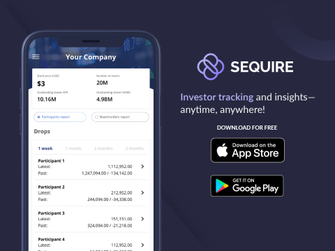 Sequire mobile app is available on the App Store and Google Play (Graphic: Business Wire)