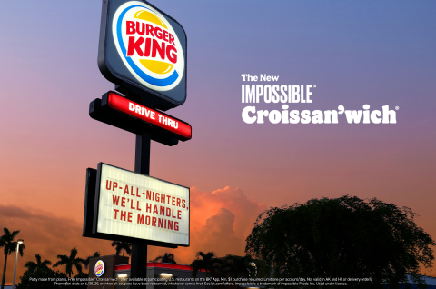 Burger King® Restaurants Launch the Impossible™ Croissan'wich® (Photo: Business Wire)