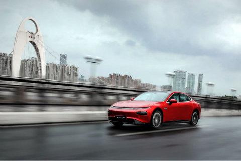 Super long-range smart sedan Xpeng P7 (Photo: Business Wire)