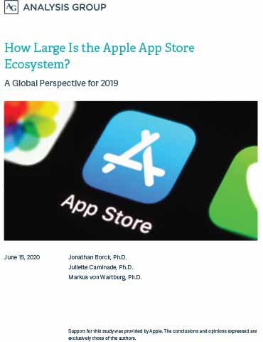 Analysis Group: How Large is the Apple App Store Ecosystem? A Global Perspective for 2019