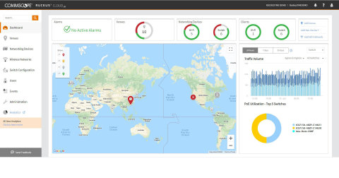 CommScope's RUCKUS Cloud Dashboard (Graphic: Business Wire)