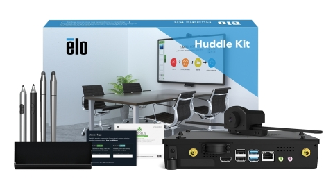 Elo's new Huddle Kit creates a turnkey collaboration solution to help keep corporate teams engaged in the 'new normal' (Photo: Business Wire)