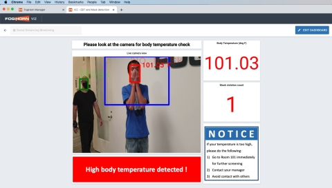 Lightning™ Health & Safety Solutions - Temperature/Mask (Photo: Business Wire)