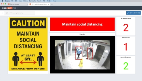 Lightning™ Health & Safety Solutions - Social Distancing (Photo: Business Wire)