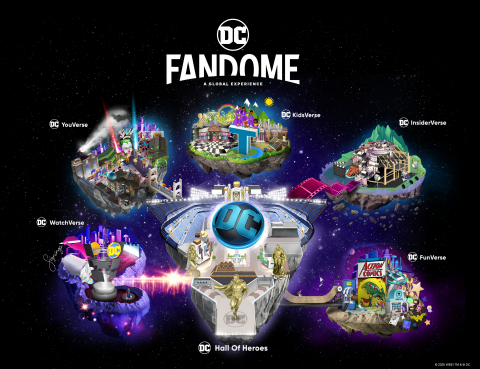 Map of the DC FanDome (Graphic: Business Wire)