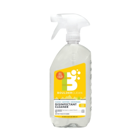 NEW Boulder Clean Disinfectant Cleaner in the 28oz spray bottle is now available and in-stock at retailers nationwide. (Photo: Business Wire)