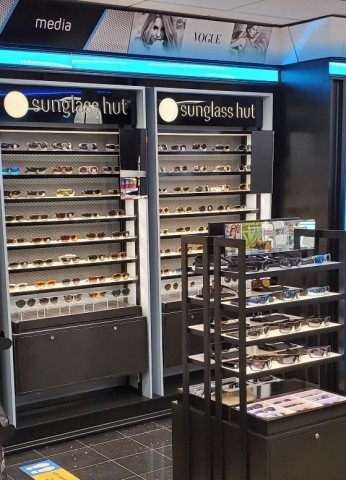 """Sunglass Hut """"Shop-in-Shop"""" in Hudson's travel convenience store in Richmond International Airport (Photo: Business Wire)"""
