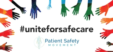 Patient Safety Movement Foundation unveils its #uniteforsafecare campaign with the theme Health worker safety is patient safety for World Patient Safety Day. (Graphic: Business Wire)