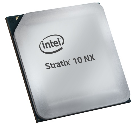 Intel announces its first Intel AI-optimized FPGA on June 18, 2020. The Intel Stratix 10 NX FPGAs will offer customers customizable, reconfigurable and scalable AI acceleration for demanding applications such as natural language processing and fraud detection. (Credit: Intel Corporation)