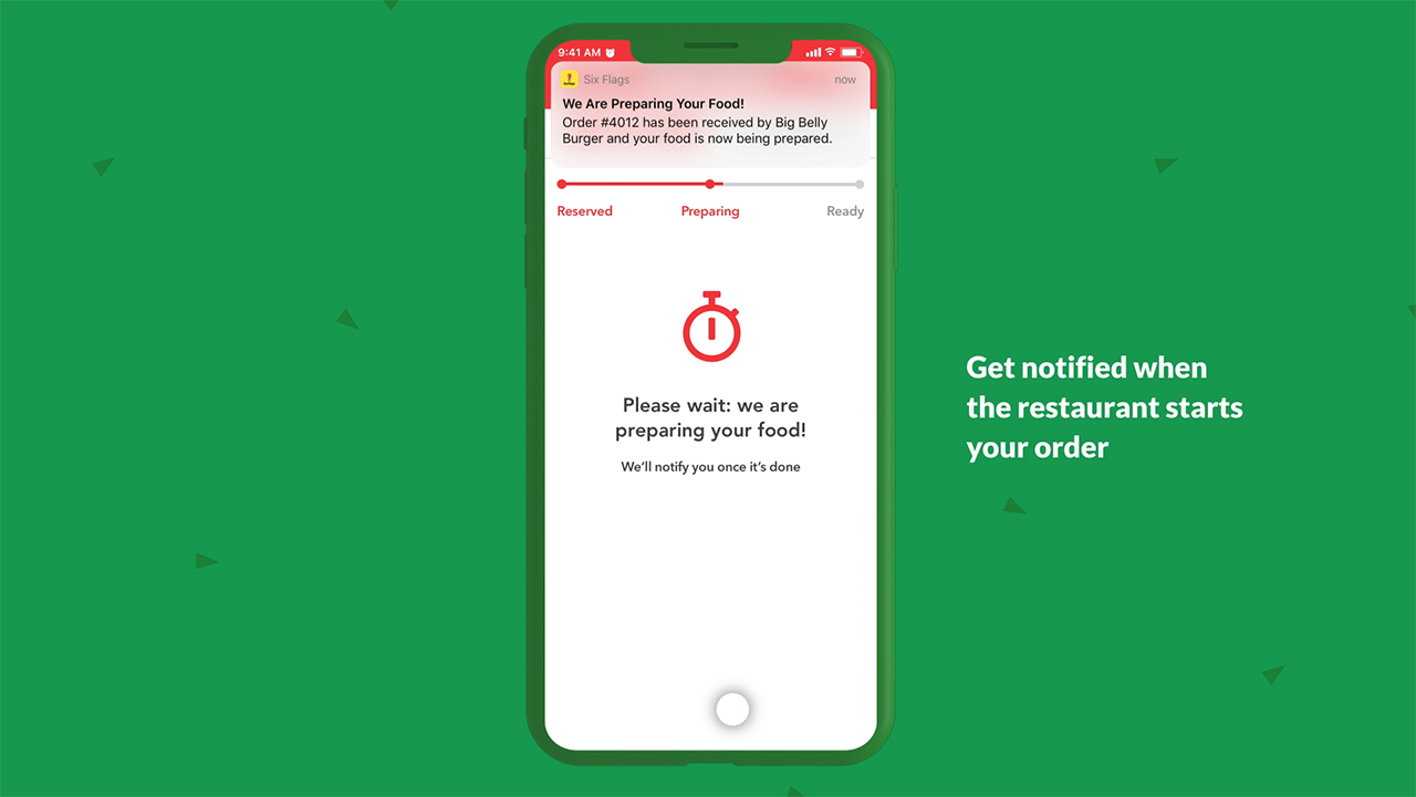 Six Flags launches Mobile Food Ordering via the Six Flags App. The process is quick, easy, and helps guests practice social distancing by reducing line wait times.