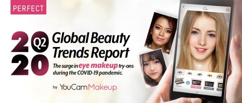 Perfect Corp. releases Q2 2020 'Global Beauty Trends Report' spotlighting the surge in eye makeup try-ons during COVID-19 pandemic (Photo: Business Wire)