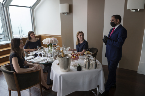 Park Hyatt Moscow guests are treated to a private in-suite dining experience. The new service offering allows guests to enjoy a hotel meal from the comfort of their room. CREDIT: AP