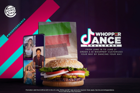 BURGER KING® RESTAURANTS PARTNER WITH TIKTOK TO LAUNCH FIRST EVER WHOPPER® SANDWICH DANCE ORDERING (Photo: Business Wire)