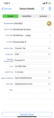 """The new """"Disinfected Surface"""" device type in SafetyScan allows facilities and service companies to track and report on disinfection efforts related to COVID-19. (Photo: Business Wire)"""