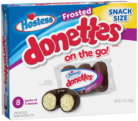 Chocolate Frosted and Powdered Donettes® Now Available in 3-to-a-Pack, On-the-Go Packaging (Photo: Business Wire)