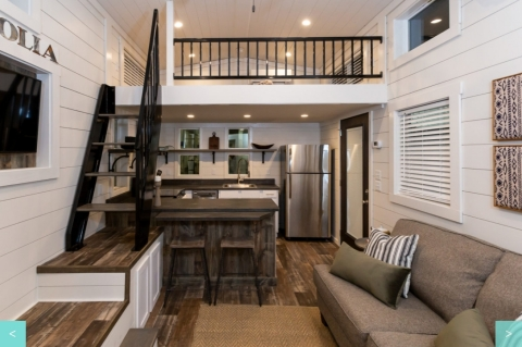 Inside a tiny home at Village Farm Tiny Home Community (Photo: Business Wire)