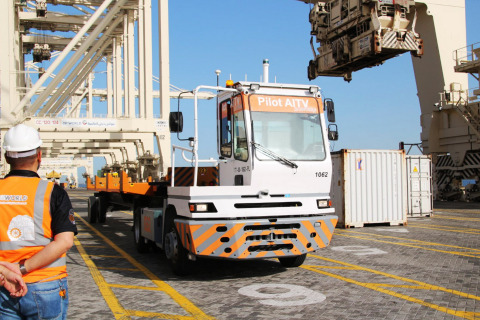 Velodyne's Puck(TM) 3D lidar sensors and Rajant's M2M Kinetic Mesh BreadCrumb(R) wireless nodes are vital to enable DGWorld to deliver and integrate autonomous technology into the existing internal terminal vehicle fleet at DP World's Jebel Ali Port. (Photo: Business Wire)