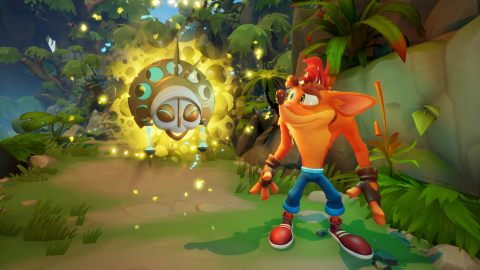 Crash Bandicoot returns with a brand-new video game that's built from the ground up and a new onslaught of absurd challenges for players to conquer in Crash Bandicoot™ 4: It's About Time. In the game, players uncover four powerful Quantum Masks, the guardians of space and time, that must be reunited to restore order to the multiverse. Crash Bandicoot™ 4: It's About Time will be available on October 2, 2020. (Graphic: Business Wire)