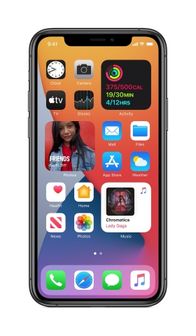 Apple previews iOS 14, introducing the biggest update ever to Home Screen pages, a new way to tap into the App Store with App Clips, powerful updates to Messages, and more. (Graphic: Business Wire)