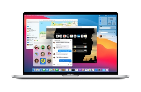 macOS Big Sur introduces a beautiful redesign and new features in Safari, Messages, and Maps. (Graphic: Business Wire)