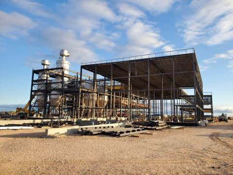 Construction is underway on Merit Functional Foods' cutting-edge pea and canola protein production facility. (Photo: Business Wire)