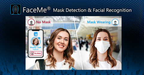 "CyberLink FaceMe® Updates with New ""Social Distancing"" Features, including Mask Detection & Enhanced Facial Recognition Capabilities. (Photo: Business Wire)"