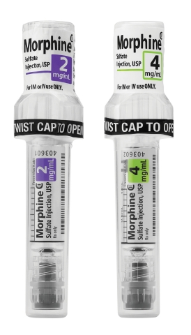 Fresenius Kabi expands its MicroVault packaging for controlled substances to now include Morphine Sulfate in the company's Simplist ready-to-administer prefilled syringes. MicroVault packaging was designed to support diversion deterrence and secure dispensing. (Photo: Business Wire)