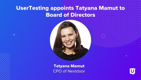 Tatyana Mamut, CPO of Nextdoor and member of the UserTesting Board of Directors (Graphic: Business Wire)