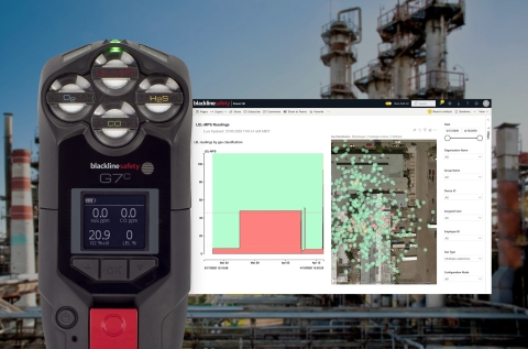 Blackline Safety partners with NevadaNano to bring their MPS flammable gas sensor as part of the Blackline G7 portfolio of cloud-connected safety wearables (Graphic: Business Wire)