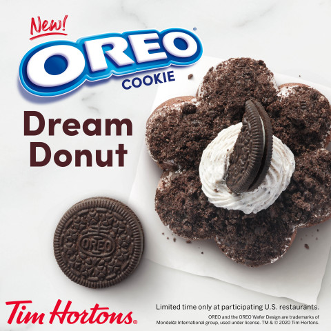 Tim Hortons® U.S. Launches Handcrafted Dream Donuts featuring a New OREO® Cookie* Dream Donut (Photo: Business Wire)