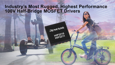 Industry's Most Rugged, Highest Performance 100V Half-Bridge MOSFET Drivers (Graphic: Business Wire)