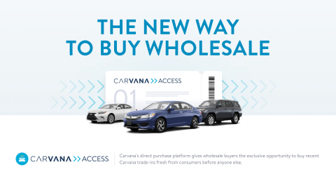Carvana has launched CarvanaACCESS, a direct-purchase platform that gives independent and franchised dealers the ability to buy wholesale vehicles from Carvana. (Graphic: Business Wire)