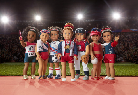 American Girl's exclusive Team USA product collection of 18-inch doll-sized summer sports gear inspires girls to dream big. (Photo: Business Wire)