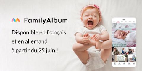 FamilyAlbum disponible en français et en allemand à partir du 25 juin ! (Graphic: Business Wire)