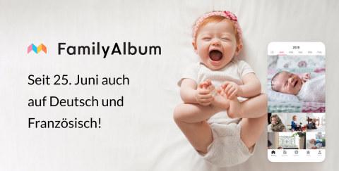 FamilyAlbum seit 25. Juni auch auf Deutsch und Französisch! (Graphic: Business Wire)