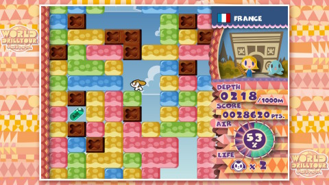 The popular action-puzzle game Mr. DRILLER DrillLand makes its Western debut on the Nintendo Switch system. (Photo: Business Wire)