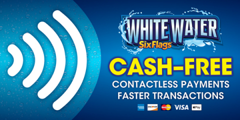 Six Flags White Water, the South's Most Thrilling Waterpark, today announced an all-new cash-free experience with contactless payments beginning June 29.(Photo: Six Flags White Water)