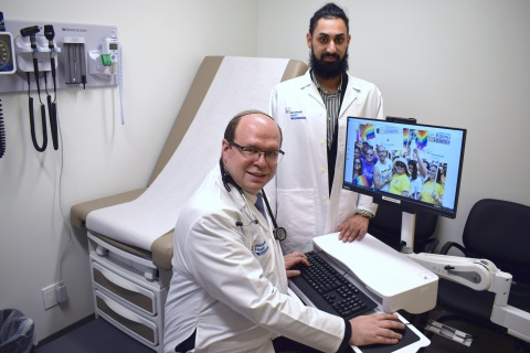 From left: David Rosenthal, DO, PhD, medical director of the Center for Transgender Care at Northwell Health, and Sundeep S. Boparai, administrative manager of Northwell Health Physician Partners LGBTQ Transgender Program at New Hyde Park. Credit Northwell Health.