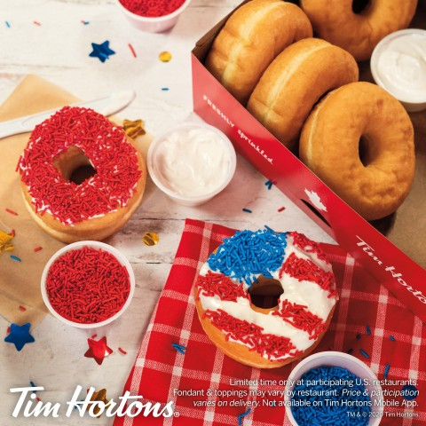Tim Hortons® U.S. Celebrates 4th of July with Patriotic DIY Donut Kit (Photo: Business Wire)