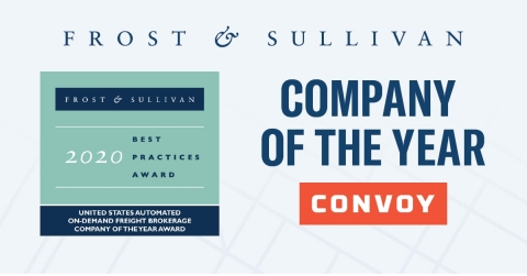 Convoy Awarded Company of the Year by Frost & Sullivan for Industry-Leading Digital Freight Network (Graphic: Business Wire)
