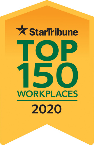Code42 ranks 7 among top 50 midsize companies in the Star Tribune Top 150 Workplaces in 2020. (Graphic: Business Wire)