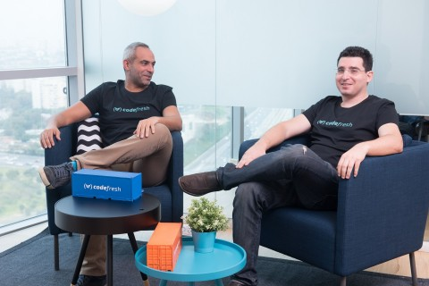 Codefresh's C-round of funding will allow the company to accelerate growth and push their competitive advantage further as the first Kubernetes-native CI/CD platform. (Left, Raziel Tabib Co-Founder & CEO. Right, Oleg Verhovsky Co-Founder & CTO.) (Photo: Business Wire)