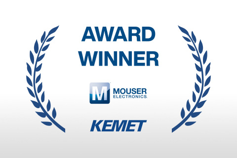Mouser Electronics has received the High Service Distributor of the Year award from KEMET for the fifth time. Mouser was measured against its competition in a variety of areas, including POA and POS growth, new product introductions, customer count growth, marketing capabilities, and overall process excellence. (Graphic: Business Wire)