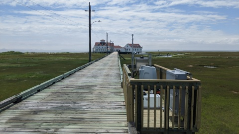 The wind LiDAR, owned and operated by Atlantic Shores Offshore Wind, will provide observations of wind profiles up to several hundred feet in a location directly on the land/sea boundary. (Photo: Business Wire)