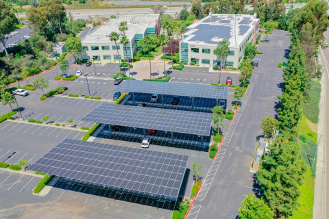 EDF Renewables will design and build an integrated solar and storage energy solution for Cox Communications in San Diego. Photo of EDFR Innovation Corporate Campus by J.Dixx Photography.