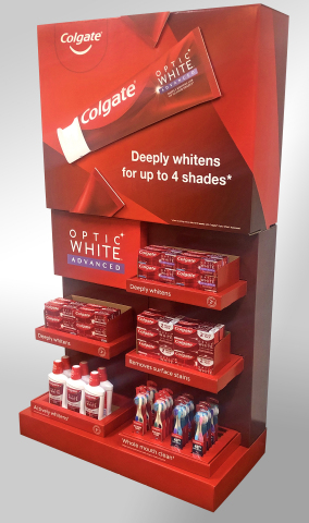 The display WestRock designed for Colgate® Target Optic White® Advanced won a bronze 2020 Outstanding Merchandising Achievement award. (Photo: Business Wire)