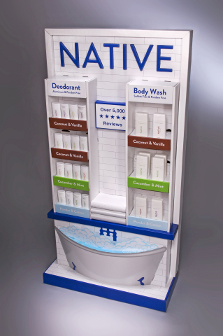 The display WestRock designed for Native Bathtub won a silver 2020 Outstanding Merchandising Achievement award. (Photo: Business Wire)