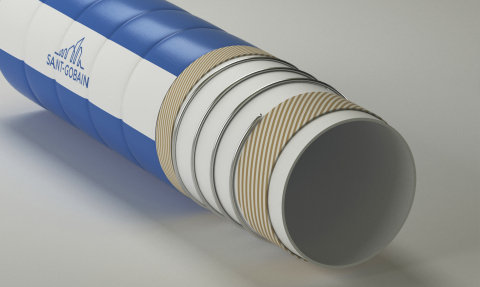 Versilon™ XFR is the first hose with full FDA food contact compliance. Questioning if testing only the food contact layer was enough to ensure the safety of the consumer, Saint-Gobain tested the compliance of Versilon XFR hose as a whole rather than only its inner food contact layer. (Photo: Business Wire)